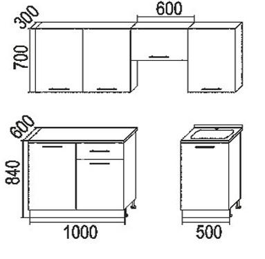 Кухонный гарнитур Лайм 2 МДФ 2.1 метр