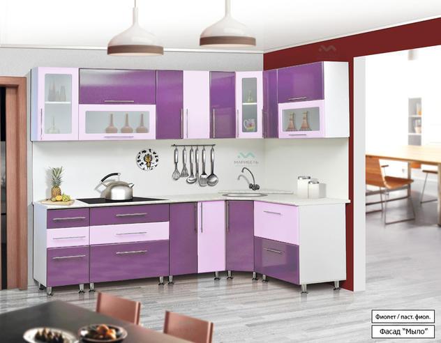 Кухонный гарнитур Ника (фасад-Мыло) Угловая 2.6х1.6 метра МДФ