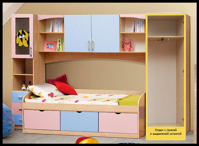 Детская мебель Омега-7 МДФ