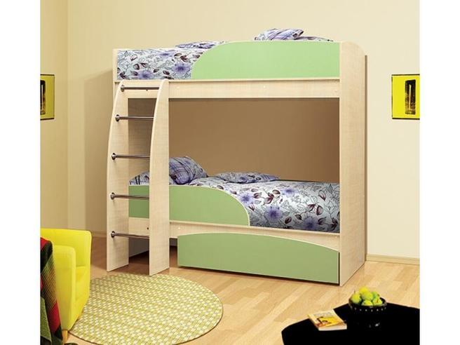 Кровать двухъярусная Омега-4 с ящиком