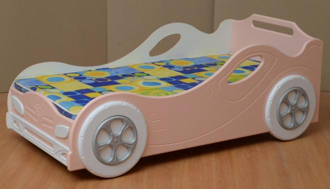 Кровать-машинка №2 для девочки Омега-12 МДФ