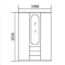 Шкаф 3-х дверный Флагман МДФ