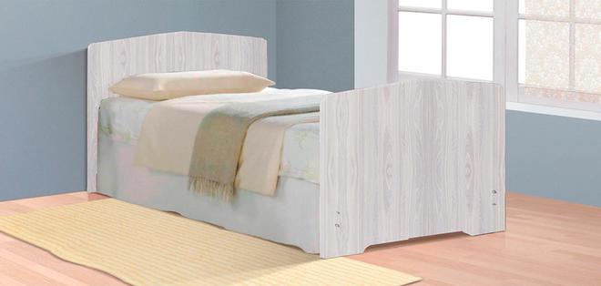 Кровать-4 (800х1900) Фант с 2-мя фигурными спинками