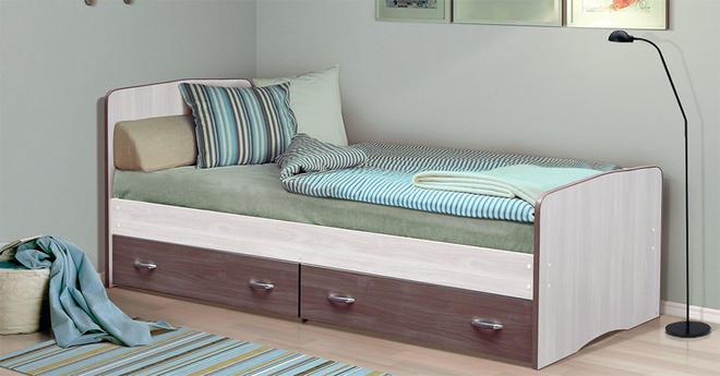 Кровать-6 (800х2000) Фант с 2-я ящиками