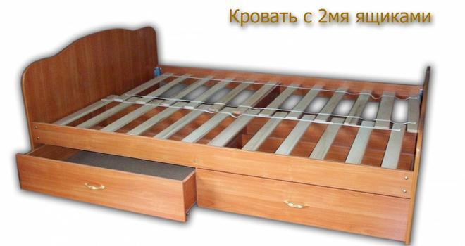 Кровать-6 (900х2000) Фант с 2-я ящиками