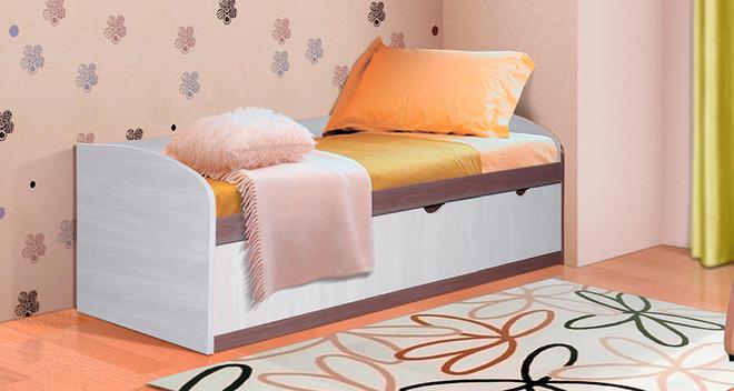 Кровать-8 Фант 800х1900 ЛДСП с 3 ящиками