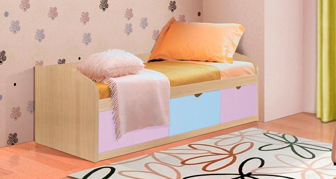 Кровать-8 Фант 800х1900 МДФ с 3-мя ящиками