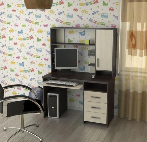 Стол Компьютерный СК-6 с полкой (Гайва)