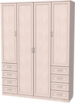 Шкаф 4-х дверный с ящиками АРТ-112