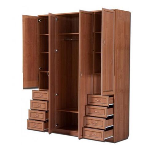 Шкаф 4-х дверный с ящиками АРТ-112 с зеркалами