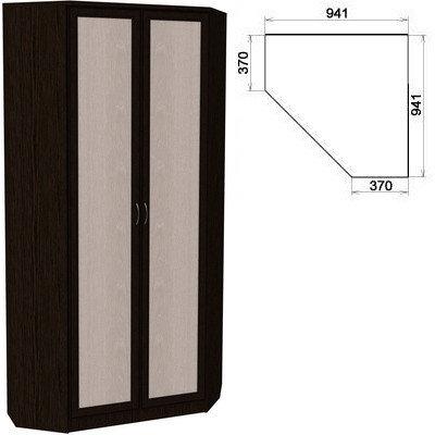 Шкаф угловой 2-х дверный АРТ-401 с зеркалами