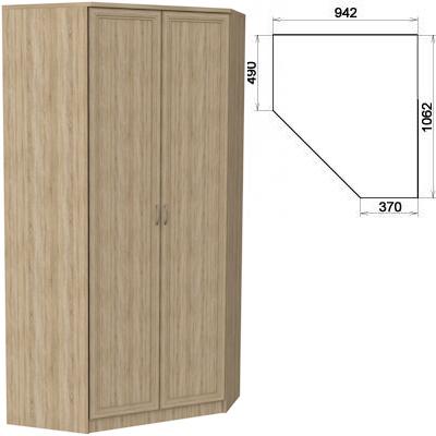 Шкаф угловой 2-х дверный АРТ-403 с зеркалами