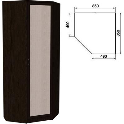 Угловой шкаф АРТ-400 с зеркалом