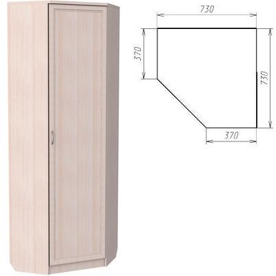Угловой шкаф АРТ-402 с зеркалом