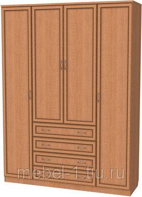 Шкаф 4-х дверный АРТ-110 с зеркалами