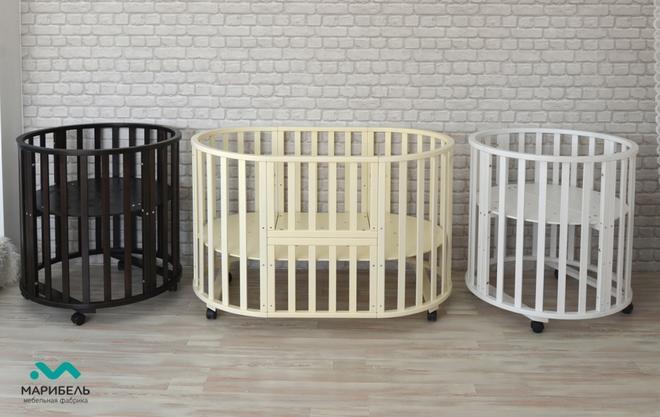"""МГ- Кроватка для новорождённый """"Трансформер - 6 в 1"""""""