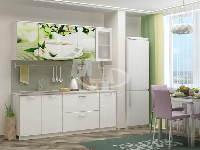 Кухонный гарнитур Зёлёный чай - 2 метра МДФ