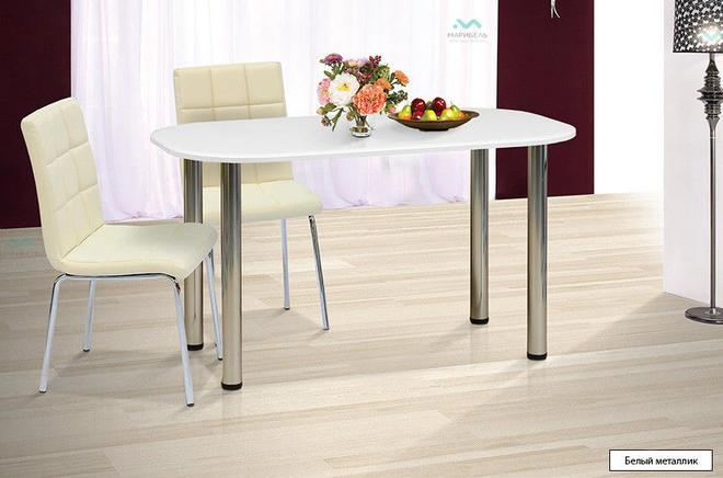 Стол обеденный и кухонный 1300х700 на металлических ножках