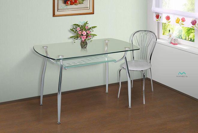 Стол обеденный и кухонный Стеклянный - 2С