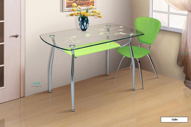 Стол обеденный и кухонный Стеклянный - 3С