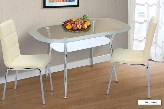 Стол обеденный и кухонный Стеклянный - 5С