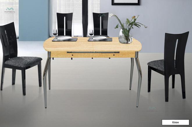 Стол обеденный Раздвижной ЛДСП на металлических ножках
