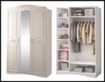 """Модульная спальня """"Виола-2 Жемчуг"""" Шкаф 3-х дверный с зеркалом"""