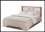 """Модульная спальня """"Виола-3"""" Кровать 1400х2000 (без основания)"""