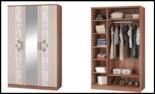 """Модульная спальня """"Виола-3"""" Шкаф 3-х дверный с зеркалом"""