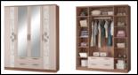 """Модульная спальня """"Виола-3"""" Шкаф 4-х дверный с зеркалами"""