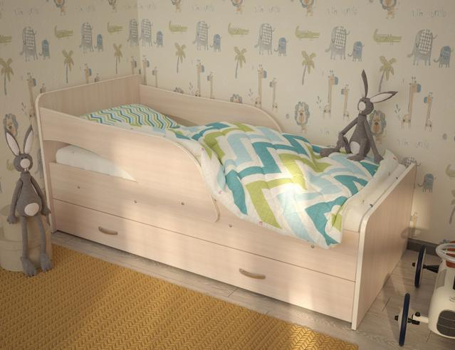 """МР- Детская кровать """"Максимка"""" с ящиками 1600х800 мм."""