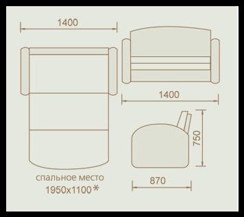 """МР- Детский диван """"Кокетка"""" (Меком)"""