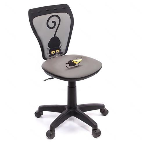 """МР- Кресло детское компьютерное поворотное """"Кот и мышь"""" MINISTYLE GTS RU CAT and MOUSE Q"""