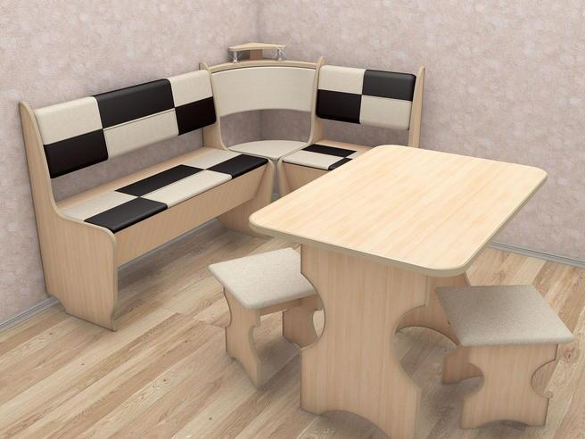 "МР- Кухонный уголок ""Домино"" стандарт со столом"