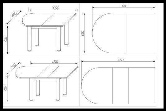 МР- Стол приставной-раздвижной на опоре Брифинг-хром (Можга)