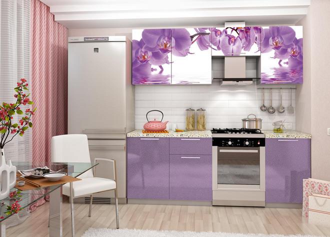 """МР-Кухонный гарнитур """"Орхидея"""" МДФ 2.1 метр (ДСВ мебель)"""