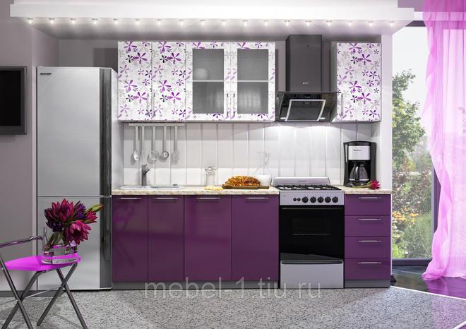 Кухонный гарнитур Флора (1.6 метра) МДФ