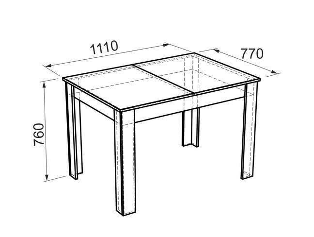 "МС- Кухонный стол ""Гермес 1"""