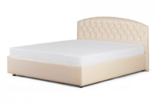 """Мягкая кровать """"Берлин"""" с берёзовыми ламелями 1200х2000мм."""