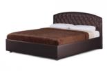 """Мягкая кровать """"Берлин"""" с берёзовыми ламелями 1400х2000мм."""