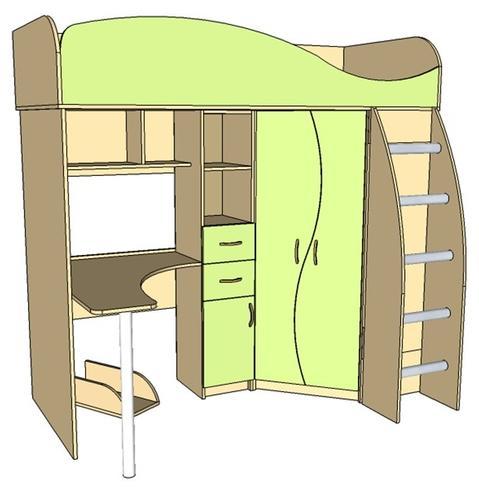 Набор мебели для  школьника  Фант-Мебель Омега 9 ЛДСП