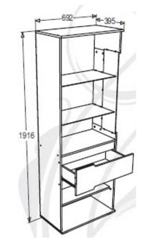 """НМ- Шкаф """"Александра 26"""" высокий (левый)"""