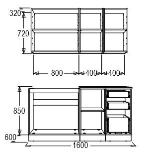 Кухонный гарнитур Фант-Мебель Диана 8 1.6 м