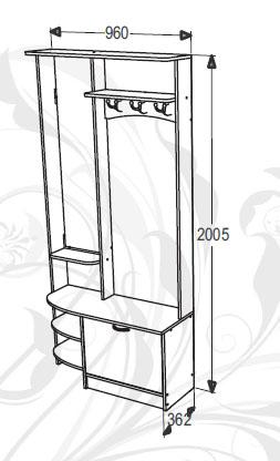Набор мебели для прихожей Фант-Мебель Саша 13