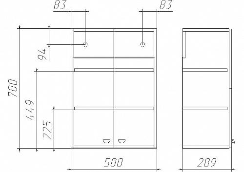 Шкаф навесной Классик 02-50 АЙСБЕРГ