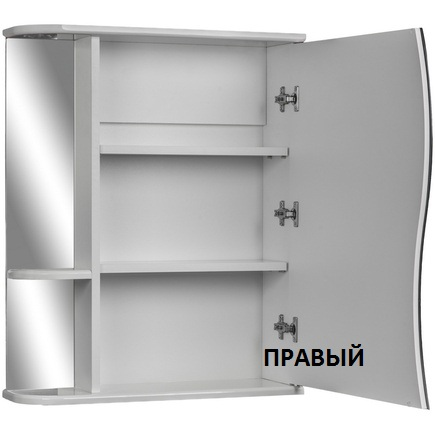 Шкаф-зеркало АЙСБЕРГ Волна-1 60