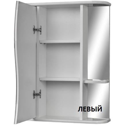 Шкаф-зеркало АЙСБЕРГ Волна-2 50