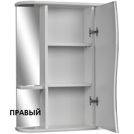 Шкаф-зеркало АЙСБЕРГ Волна-2 55