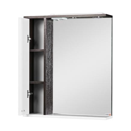 Шкаф-зеркало для ванной ДОМИНО Блик 55-венге- с подсветкой