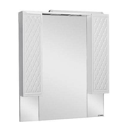 Шкаф-зеркало ДОМИНО 3D 90 с подсветкой